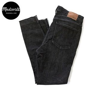 "MADEWELL • Black 10"" High-Rise Skinny Jeans (28)"